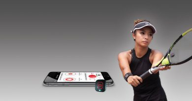 Perfect your tennis game with the Qlipp tennis sensor
