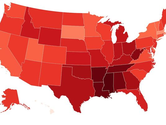 these are the us states with the lowest heart rate - These are the US states with the lowest heart rate