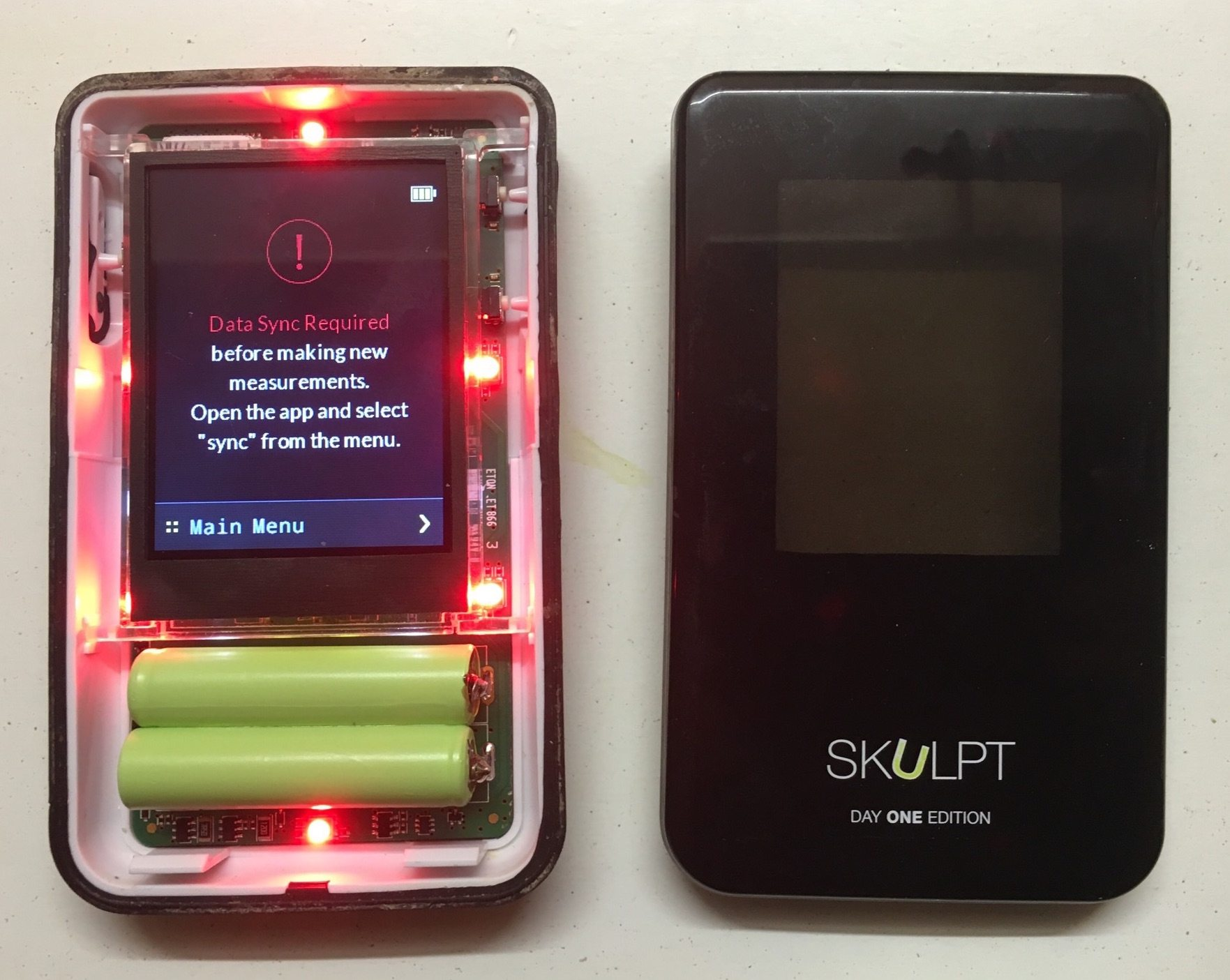 this is what we did to fix the battery issue on skulpt aim 9 - This is what we did to fix the battery issue on Skulpt Aim