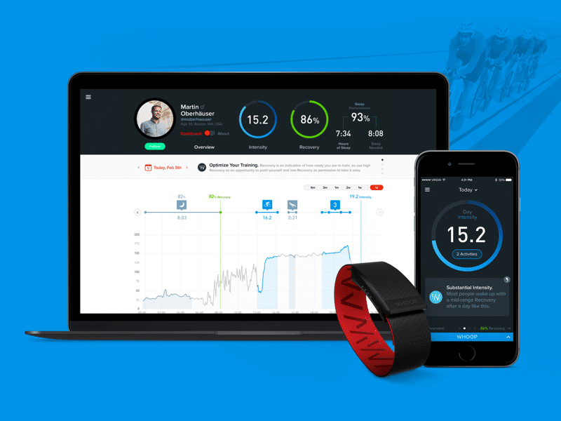 now you can train like the pros with whoop 3 - Wearables galore at this year's Rio 2016 Olympics
