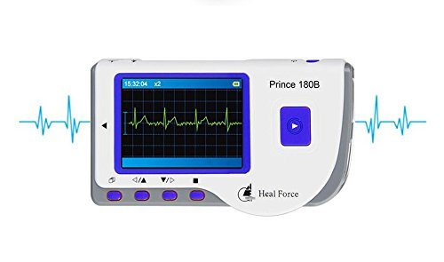 41JIOFro5vL - Review: Heal Force 180-B Easy Handheld Portable ECG Monitor