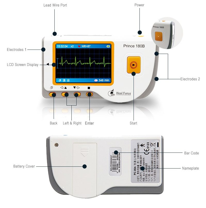 800 914 18798534686731c42b7d125caa1fec25 e1470398697394 - Review: Heal Force 180-B Easy Handheld Portable ECG Monitor