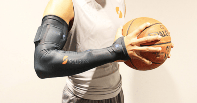 Play like a pro with the SOLIDshot Basketball Smart Sleeve