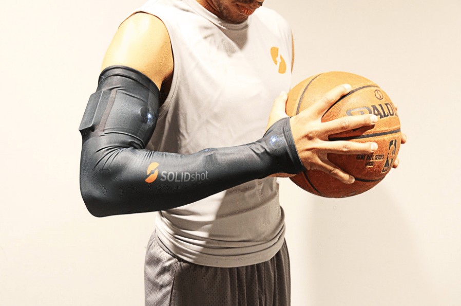 play like a pro with the solidshot basketball smart sleeve - Connected tech for aspiring basketball players