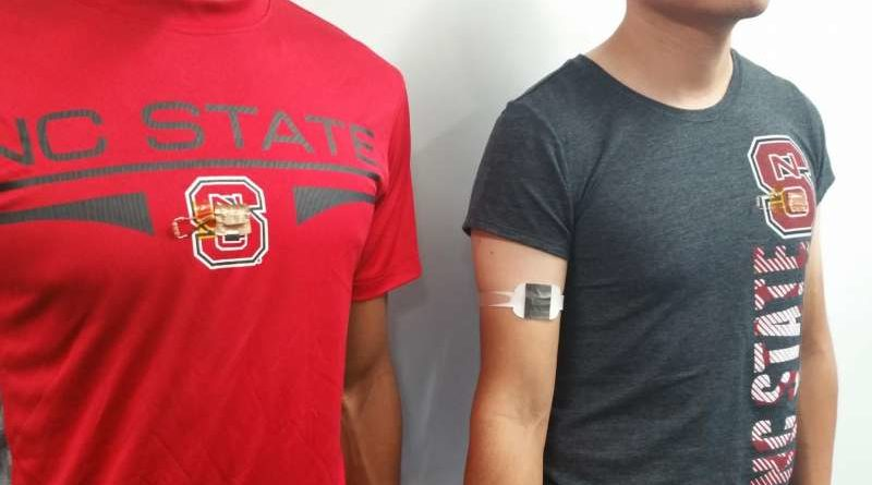 Stick-on generator uses body heat to power wearables