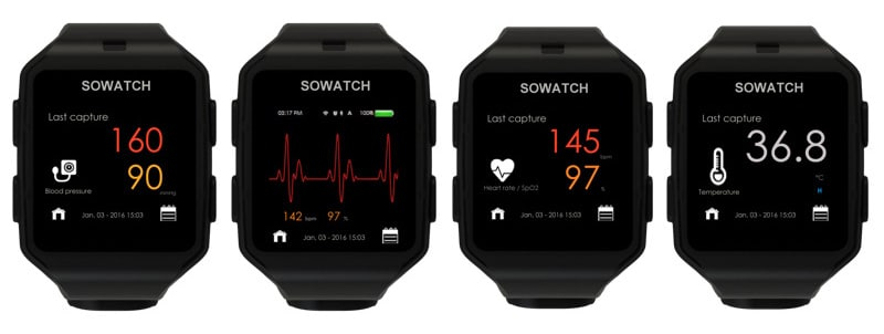 sowatch track your cardiovascular health and blood pressure from the wrist 2 - Cardiovascular health tracking SoWatch starts rolling off the production line