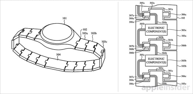 apple watch patent reveals customizable bands - Apple watch patent reveals customizable bands