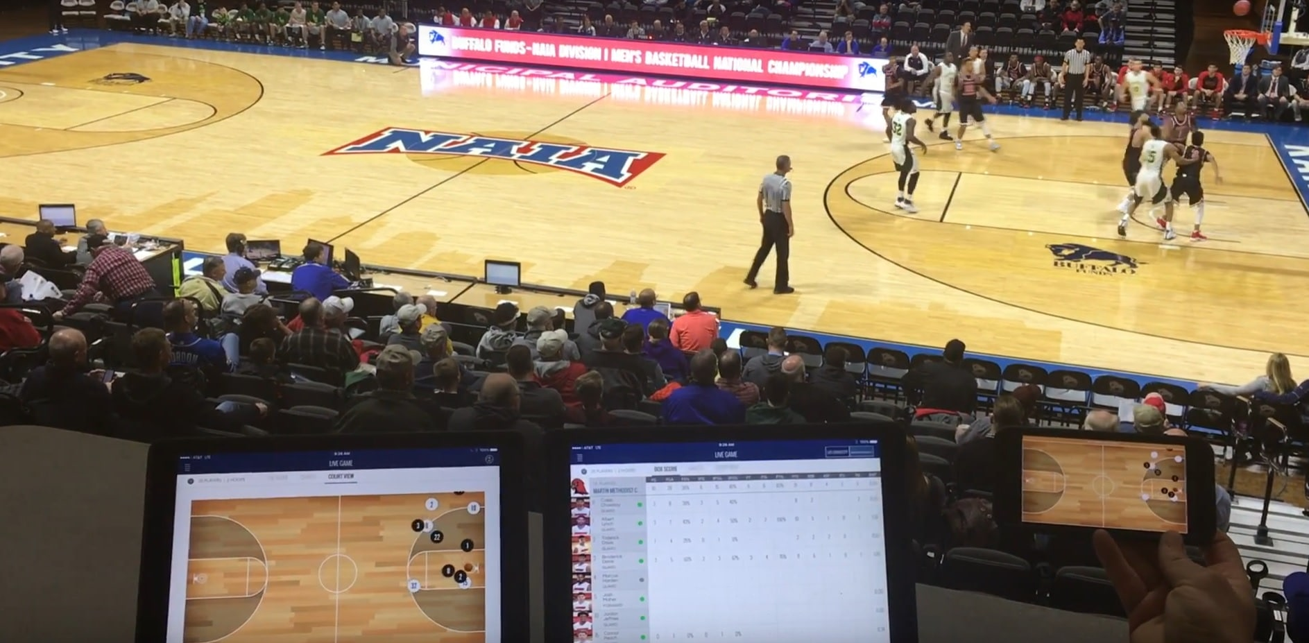 shottracker brings real time stats to naia basketball tournament 2 - ShotTracker brings real time stats to NAIA basketball tournament
