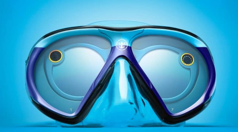 SeeSeekers dive mask is a waterproof version of Snapchat Spectacles