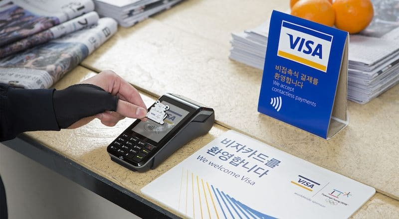 Visa creates gloves, collectible pins and stickers for wireless purchases at Winter Olympics