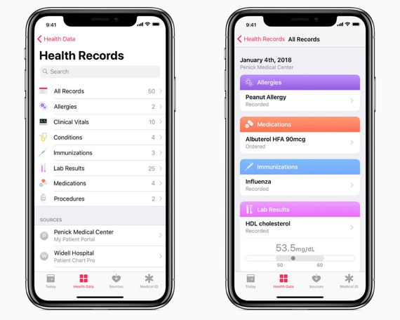 Health Records app - Apple now provides you with direct access to your medical records