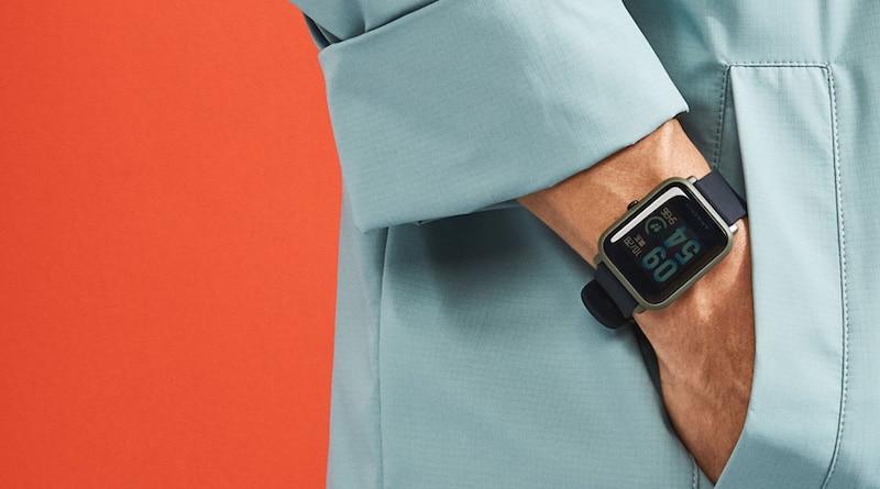 The lightweight Amazfit Bip smartwatch will