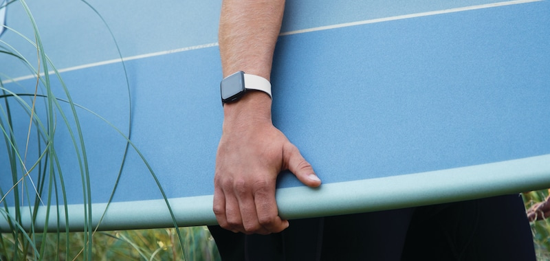 fitbit versa lifestyle classic white surfboardcloseup - If you really want a waterproof Fitbit, these are your options