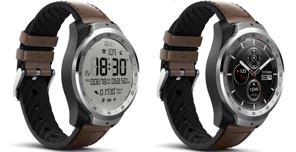TicWatch Pro comes with a transparent screen layered on ...