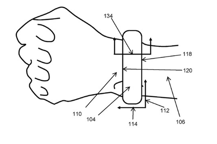 apple patents self inflating blood pressure monitoring watch 1 - Apple patents self-inflating blood pressure monitoring watch