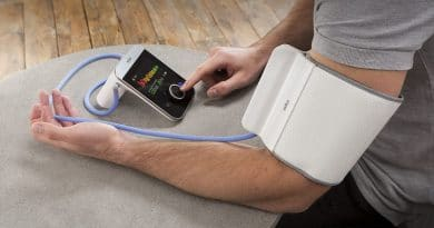 Monitor your heart via a simple colour coded system with Braun's new smart blood pressure monitors