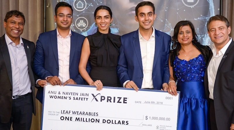 This wearable panic button just won the $1m Women's Safety XPrize