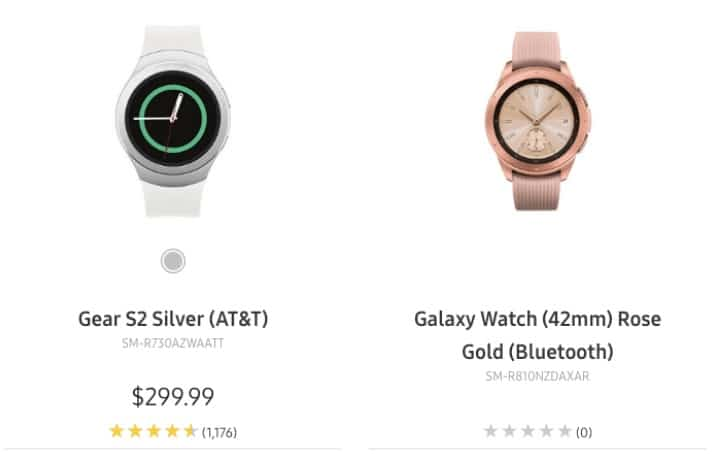 oops samsung has just leaked the galaxy watch on its own website - Oops! Samsung has just leaked pics of Galaxy Watch on its own website