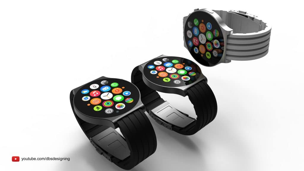Here is a glimpse at just how beautiful a round Apple Watch would be