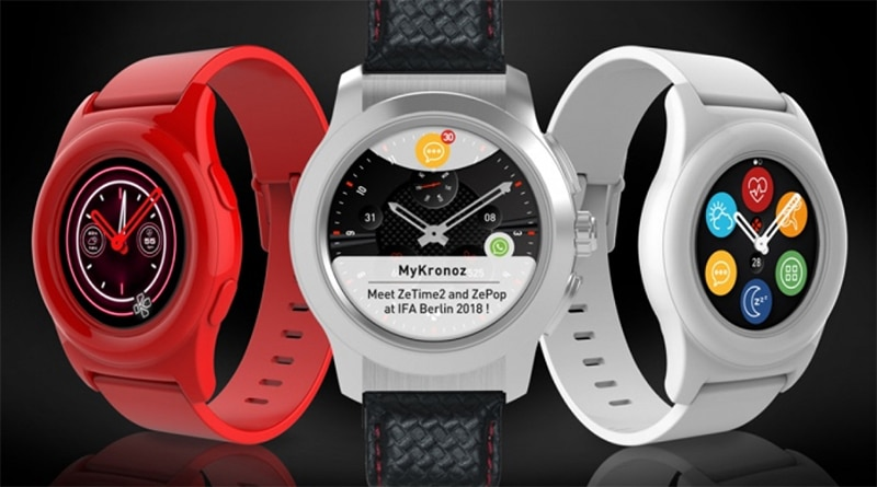 IFA 2018: MyKronoz rolls out ZeTime2 and ZePop smartwatches