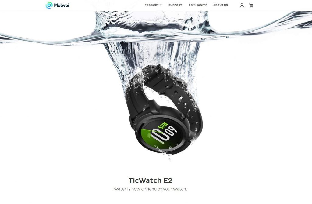 Mobvoi publishes teaser of TicWatch E2 on its official website