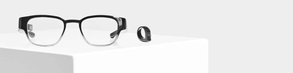 these 1000 specs will let you walk around town with your own mixed reality display 1 1024x256 - Canadian startup North launches $1,000 mixed reality display glasses