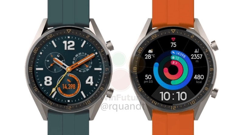 leaked image shows upcoming huawei watch gt and watch elegant - Image of Watch GT Active Edition leaked by Huawei confirming design