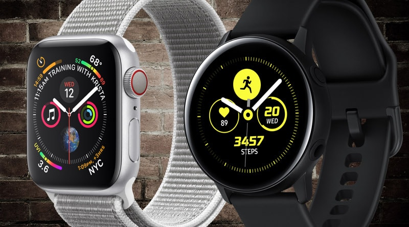 Picking between Apple Watch Series 4 and Galaxy Watch Active