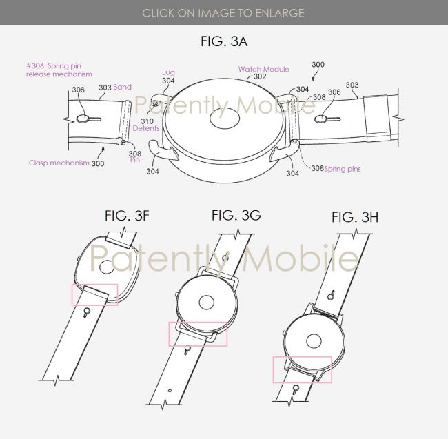 strap release patent adds fuel to google pixel watch rumors - Strap-release patent rekindles hopes of a 2019 Google Pixel Watch launch