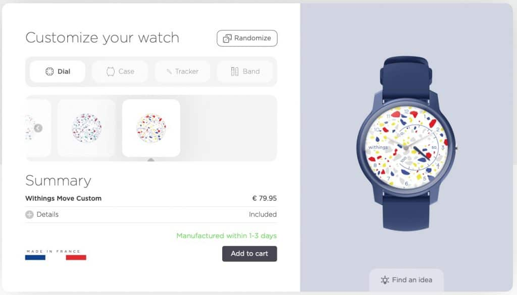 You can customise a Withings' Move watch in its new French factory now