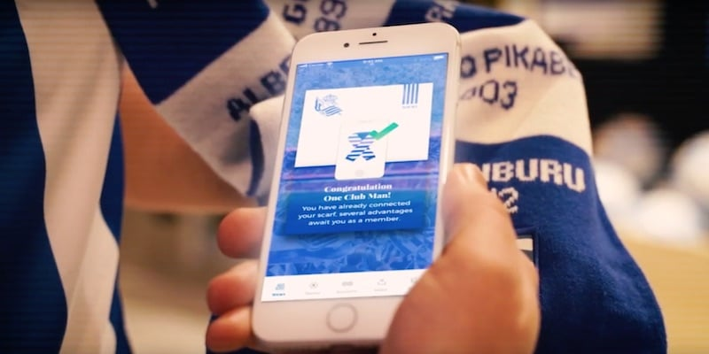 real sociedad s digital scarf rewards football fans for buying authentic - Real Sociedad's digital scarf rewards football fans for buying authentic