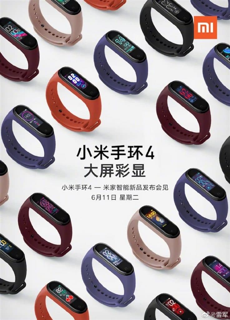 xiaomi mi band 4 set for an official launch in china on june 11 737x1024 - Mi Band 4 set for China launch on June 11th, pre-launch poster reveals design