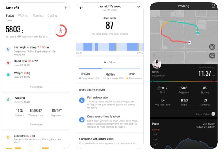 amazfit watch app update brings fresh design and workout recording feature - Amazfit Watch app 3.0.0 brings fresh design & workout recording feature
