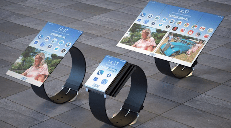 IBM awarded patent for a tablet you can fold into a smartphone and smartwatch