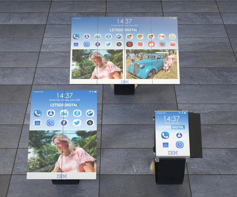 IBM awarded patent for a tablet you can fold into a smartphone & smartwatch