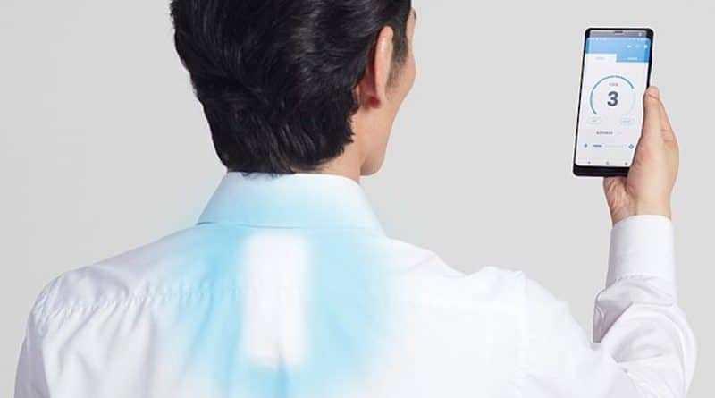 Sony has a wearable air conditioner that blows cold air down your neck