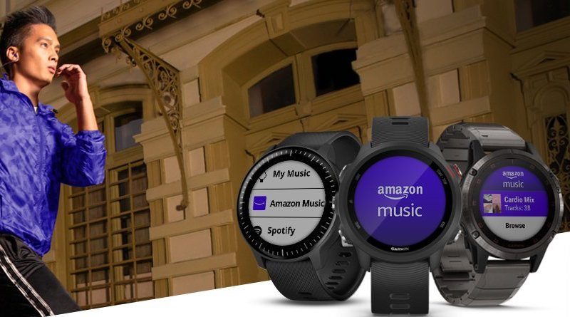 Garmin adds Amazon Music to its watch streaming services