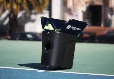 Proton is a smartphone controlled portable tennis machine