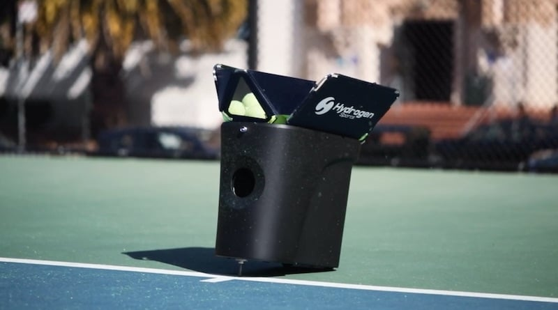 proton is a smartphone controlled portable tennis machine - Slinger Bag changes its name & goes public as launch date nears