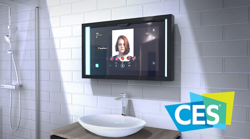 CES 2020: CareOS Poseidon is an smart mirror that focuses on personal wellness