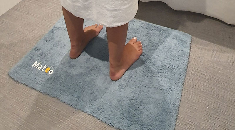ces 2020 mateo is a smart bathroom mat that tracks your weight posture - CES 2020: Mateo is a smart bathroom mat that tracks your weight & posture