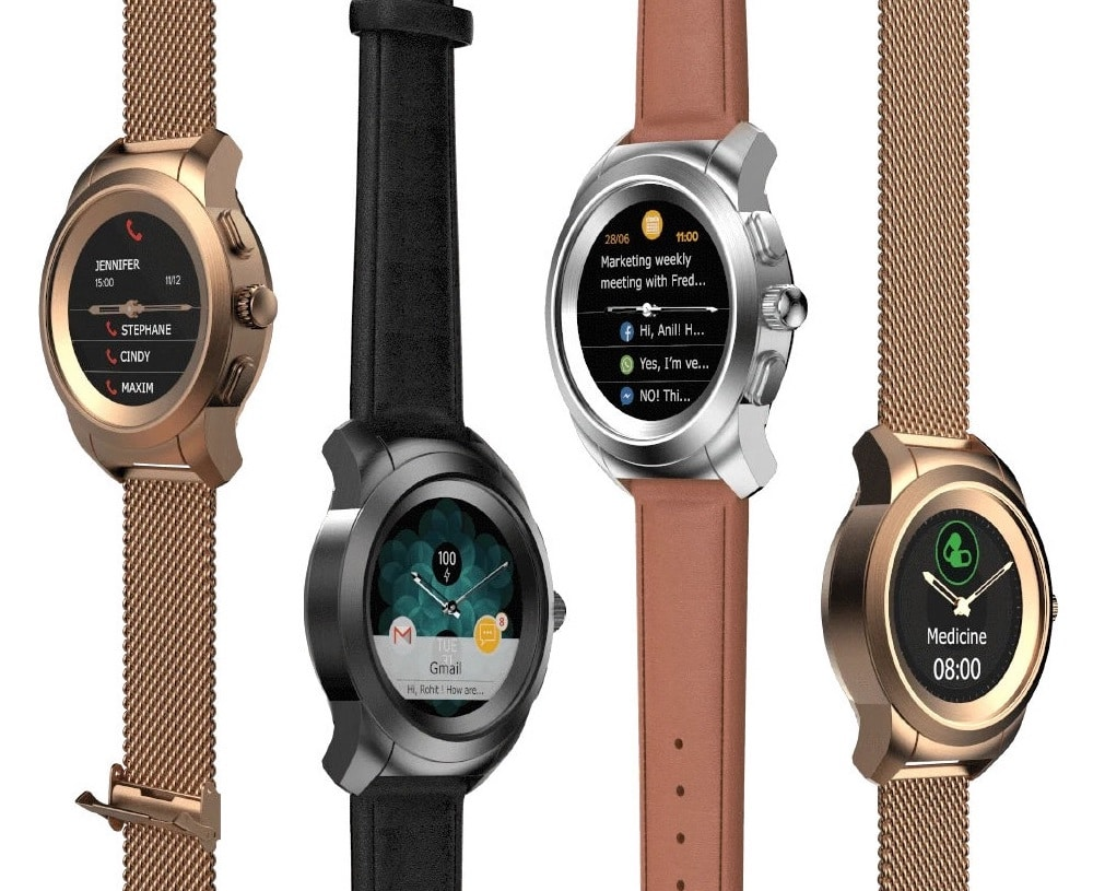 NoiseFit Fusion is a touch-screen smartwatch with mechanical hands