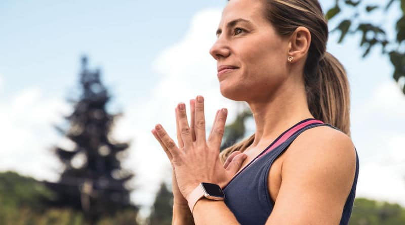 A Fitbit smartwatch app helps stop you touching your face