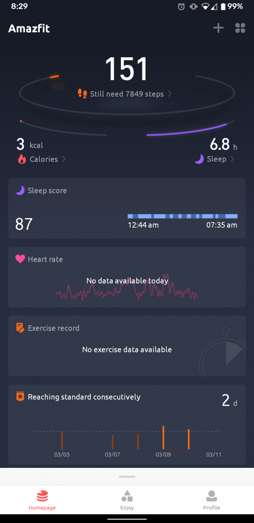 amazfit app gets a fresh new look additional data 498x1024 - Amazfit app gets a fresh new look, additional data