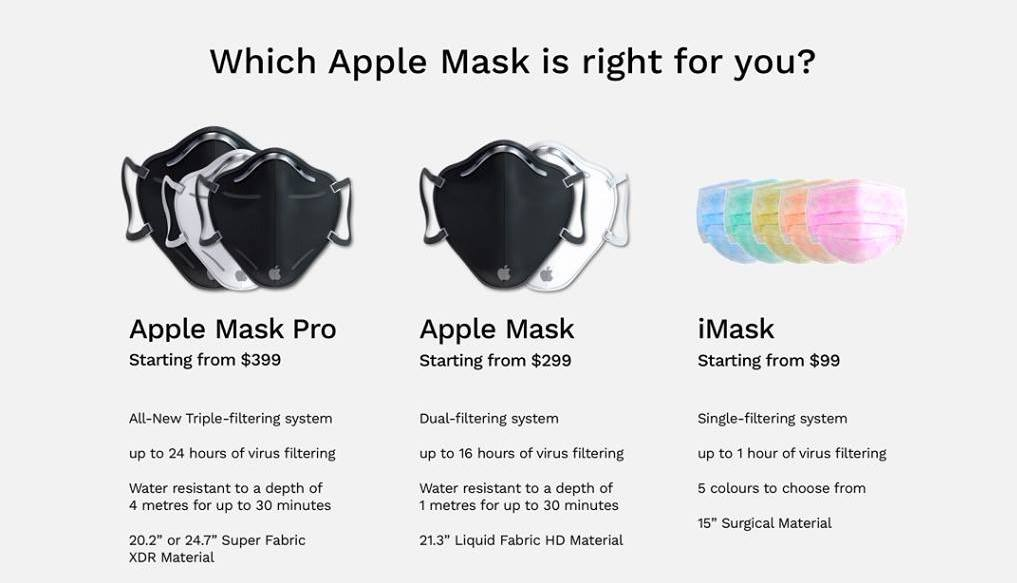 apple mask pro a funny concept of an alternative take on coronavirus protection 1 - Apple Mask, a funny concept of an alternative take on coronavirus protection