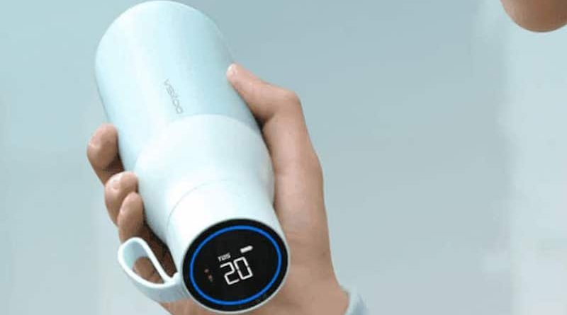 Huawei's smart water bottle has a display on the lid with real-time temperature