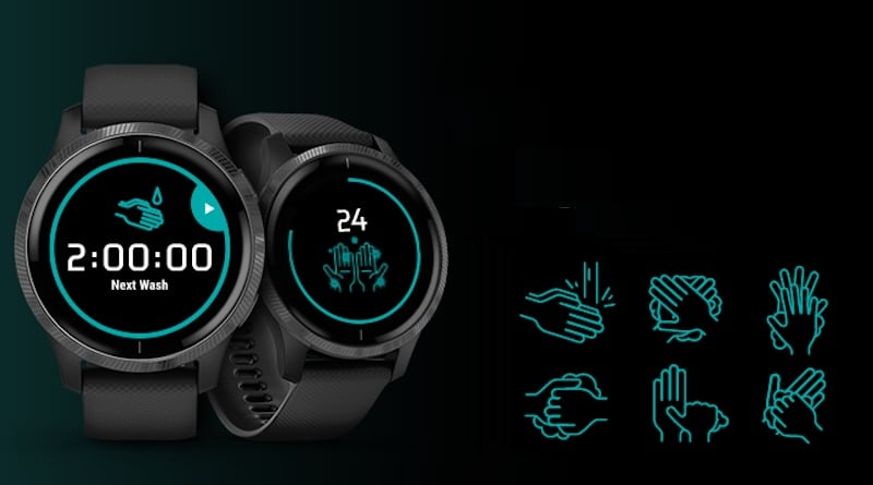 Now Garmin is in on it! Here is its smartwatch hand washing app.