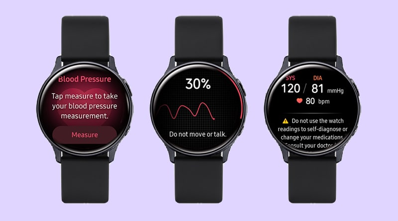 Samsung enables Galaxy Watch Active 2 blood pressure feature