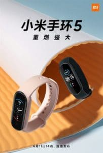 the first official image of xiaomi mi band 5 launch on june 11th 1 203x300 - Multiple promotional posters released of Xiaomi Mi Band 5, press event on June 11th