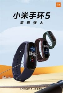 the first official image of xiaomi mi band 5 launch on june 11th 2 203x300 - Multiple promotional posters released of Xiaomi Mi Band 5, press event on June 11th